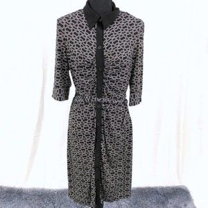 Laundry By Design Collared Dress with Belt L